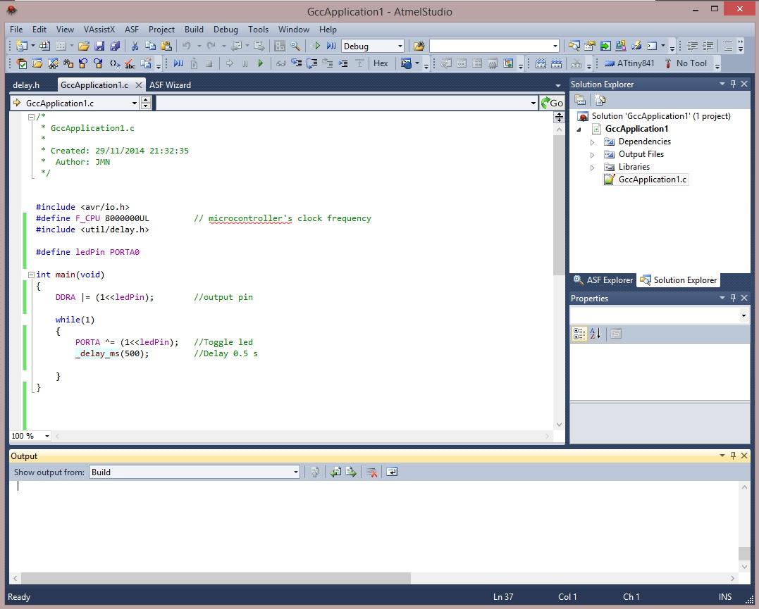 Código del programa del microcontrolador