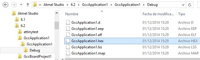 Archivo .hex con el programa para grabar en el microcontrolador.