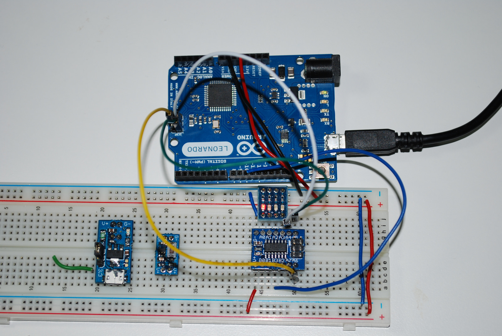 ecTiny841 programmed by an Arduino.